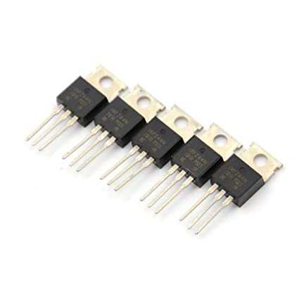 Connectors - 5pcs Irfz44n Transistor Irfz44 Power Mosfet 49a