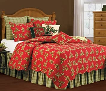 Amazon.com: 108X92  King Size Quilt Set, HOLLY RED: Home & Kitchen : amazon king size quilts - Adamdwight.com