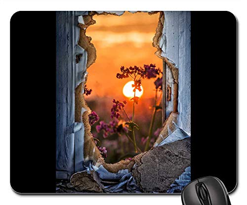 Mouse Pad - Door Breakthrough Door Sunburst Flowers