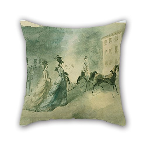 TonyLegner Oil Painting Constantin Guys - Vanity Fair Pillow Cases 18 X 18 Inches / 45 by 45 cm Gift Or Decor for Deck Chair Home Christmas Valentine Son Bench - Two Sides]()