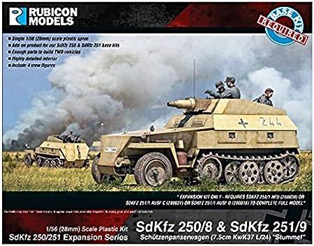 RUBICON MODELS 280032 SDKFZ 250//1 Alte /& SDKFZ 253 1:56 PLASTIC MODEL KIT