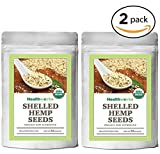 Healthworks Organic Shelled Hemp Seeds 4lb(2 2lb Packs)