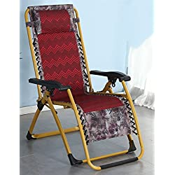 ZR- Folding Lunch Break Lounge Chair Home Balcony Siesta Bed Portable Easy Chair Office Chair Lazy Chair Modern And Simple (Color : 1003)