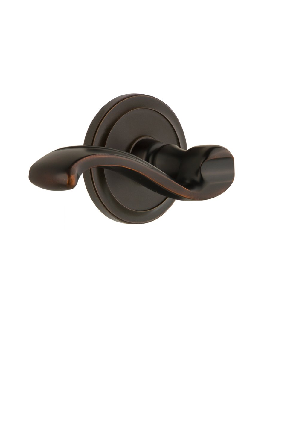 Grandeur 810524 Circulaire Rosette Double Dummy with Portofino Lever in Polished Nickel
