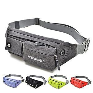BEKILOLE Fanny Pack for Women Men Waterproof Waist Bag for Sports Travel Running Hiking / Money iPhone 6 / 7 6S / 7S Plus Samsung S5 S6- Gray