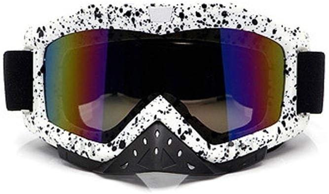 Lunettes de Moto de Protection de Nez,Lunettes de Moto de Motocross Anti-bu/ée Anti-bu/ée pour Les Accessoires de Moto Hors Route