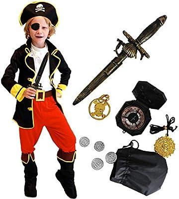 Tacobear Disfraz Pirata Niño con Pirata Accesorios Pirata Sombrero ...