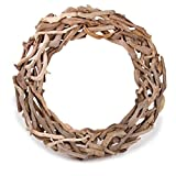 "DARICE 2503-109 18"" Natural Driftwood Wreath, Multicolor"