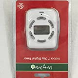Merry Brite Indoor 7 Day Convenient Digital Timer Polarized Outlet
