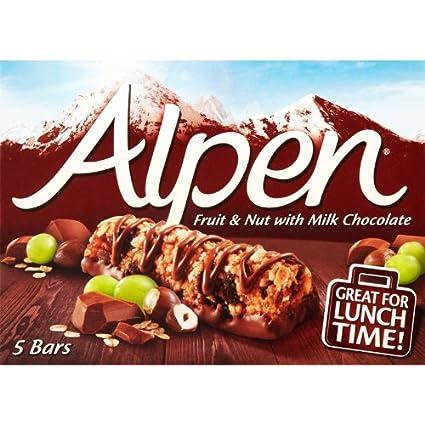 Alpen Fruit & Nut with Milk Chocolate 5X29G: Amazon.com ...