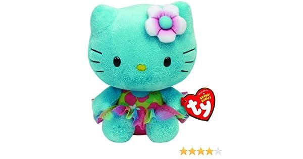 Hello Kitty Peluche, 15 cm, color turquesa (TY 41021TY): Amazon.es: Juguetes y juegos