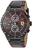 Scuderia Ferrari Men's Quartz Stainless Steel and Leather Casual...