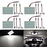 Saab 9-4X Accessories & Parts - Livtee Led Panel Lights with 194 168 2825 T10 W5W / DE3175 6428 / BA9S 64111/6418 DE3423 DE3425 / 211-2 569 578 Festoon Adapters Replacement for Car Interior Map Dome Reading Trunk Lights, Xenon White