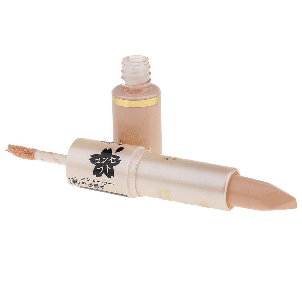 MagiDeal 2 In 1 Viso Contorno Occhi Liquido Correttore Fondotinta Crema Idratante Bellezza Trucco Makeup - #3