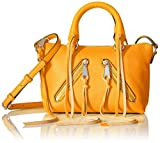 Rebecca Minkoff Micro Moto Satchel Cross Body, Saffron, One Size