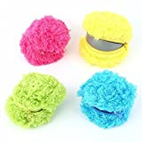SUPOW Mocoro Ball Mini Robotic Cleaner, Microfiber Mop Ball, Automatic Vacuum Cleaner Cute Roll Ball Creative Automatic Rolling Furball Floor Cleaner Mini Sweeping Robot Pet Dogs Funny Toys