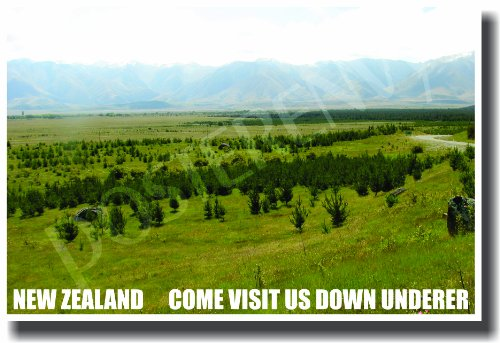 New Zealand - Come Visit Us Down Underer - NEW World Travel Poster