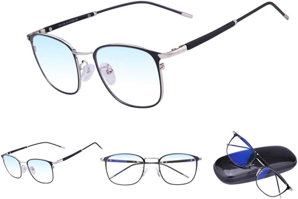 Gafas de Lectura para Hombre,Anti-Azul (Lentes Transparentes),Gafas de computadora ultraligeras,protección y Fatiga Ocular