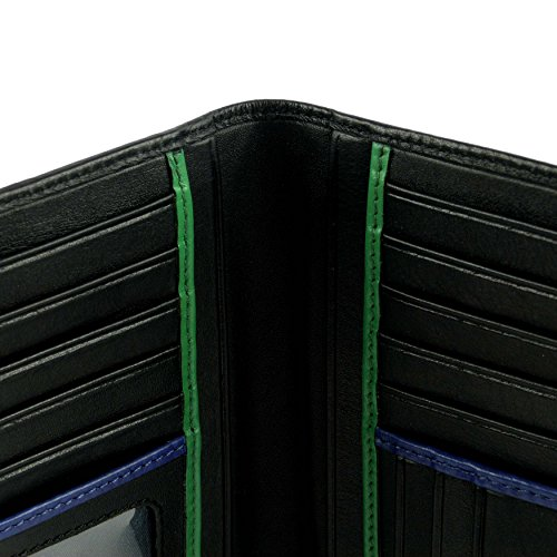 Para De Gift La Slim Delgado Visconti; Mens Colección By Por Leather amp; La Stylish De Black De Hombre Suit Wallet De Bond Collection Cartera Traje Visconti; Verde Y Caja Negro Elegante Cuero Box Regalo Bonos Green De 7xqHxw8