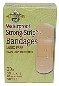 All Terrain 20-Count Waterproof Strong Strip Bandage, 1.0 x 3.25-Inch