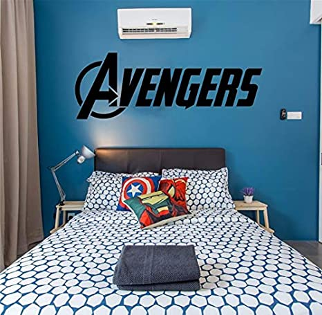 Avengers Logo Marvel Wall Art Sticker Decals decoración para el ...