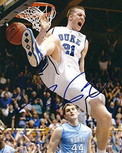 Autographed Miles Plumlee Duke Blue Devils 8x10 - Blue Duke Devils 8x10 Photo