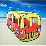 Biscount Pop-Up Big Bus Play Tent Indoor & Outdoor Playhouse Act As Bus Driver