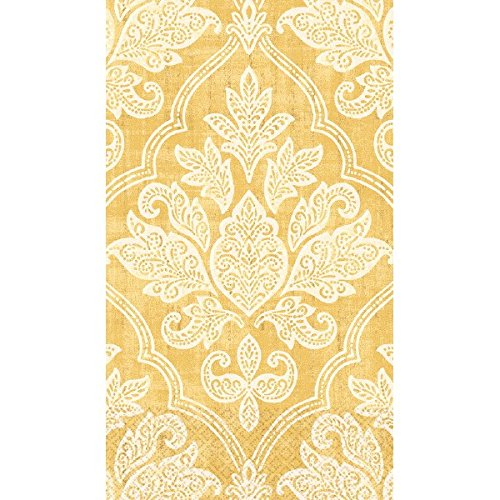 Gold Damask Guest Paper Towels | 16 Ct. | 8