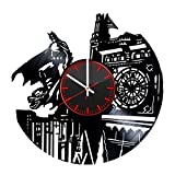 Batman DC Handmade Vinyl Record Wall Clock - Get unique living room or bedroom wall decor - Gift ideas for his and her – Superhero Figure Unique Art Design