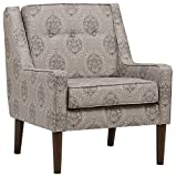 Stone & Beam Modern Sweeping Arm Accent Chair, 28″W, Damask Taupe Review