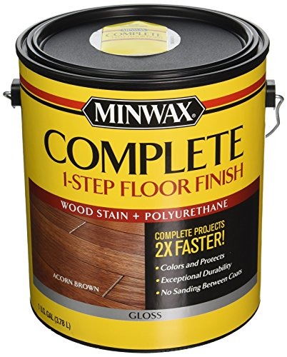 Gloss Hardwood Floors - Minwax 672020000 1G Gloss Acorn Brown Complete 1-Step Floor Finish