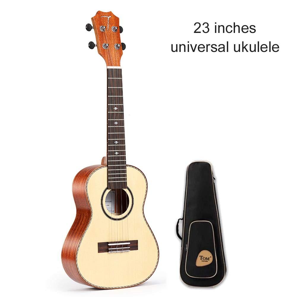Wovemster Premium Mahogany Soprano Ukulele Bundle con Ukulele School, bolsa acolchada (23 pulgadas)