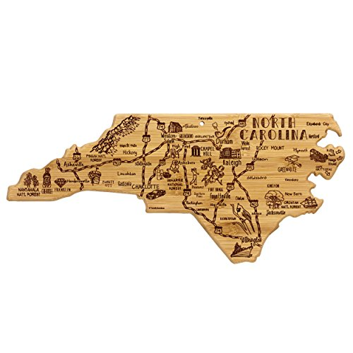 Totally Bamboo North Carolina State Destination Bamboo Serving and Cutting Board ()