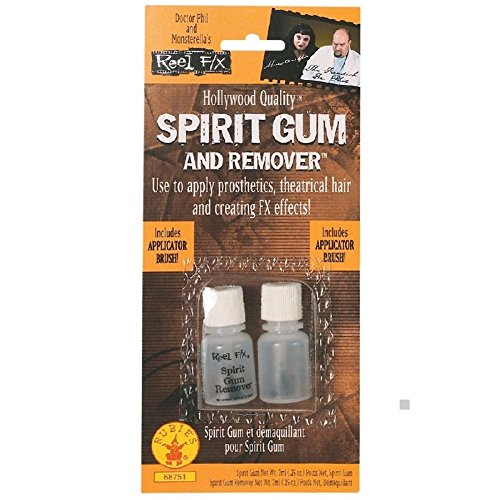 Spirit Gum +Remover Costume Makeup Accessory Adhesive Glue Halloween Fancy Dress (Nerd Costume Spirit Halloween)