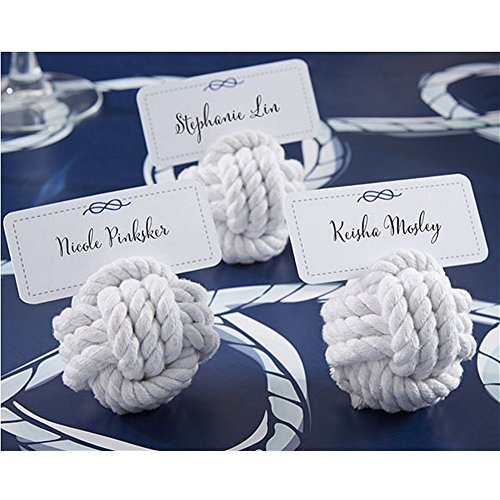 Nautical Cotton Rope Place Card Holders - Set of (Sailor Monkey)
