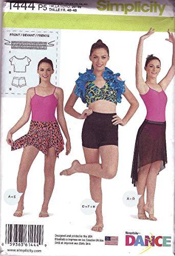 (Simplicity Dance Pattern 1444 Misses Knit Dancewear Sizes 12-14-16-18-20)