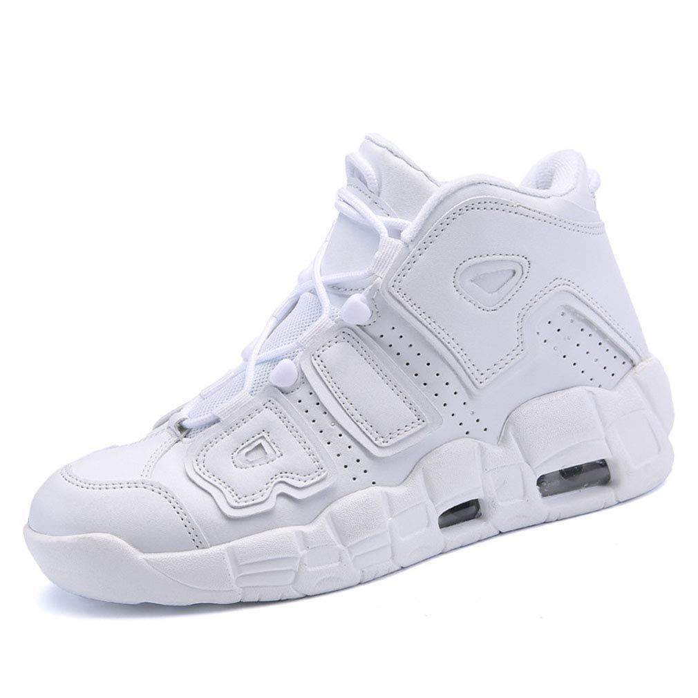 Unisex Shoes Basketball Shoes Couple Air Cushion Sports Shoes Thick-Soled Anti-Skid Shock Absorbing Sneakers