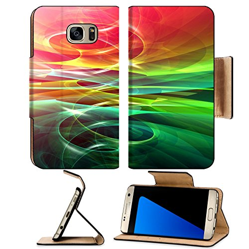 Luxlady Premium Samsung Galaxy S7 EDGE Flip Pu Leather Wallet Case IMAGE ID 934428 Cool abstract background