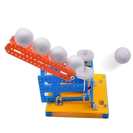 Amazon com: Jiecikou DIY Automatic Ball Pitching Machine Toy