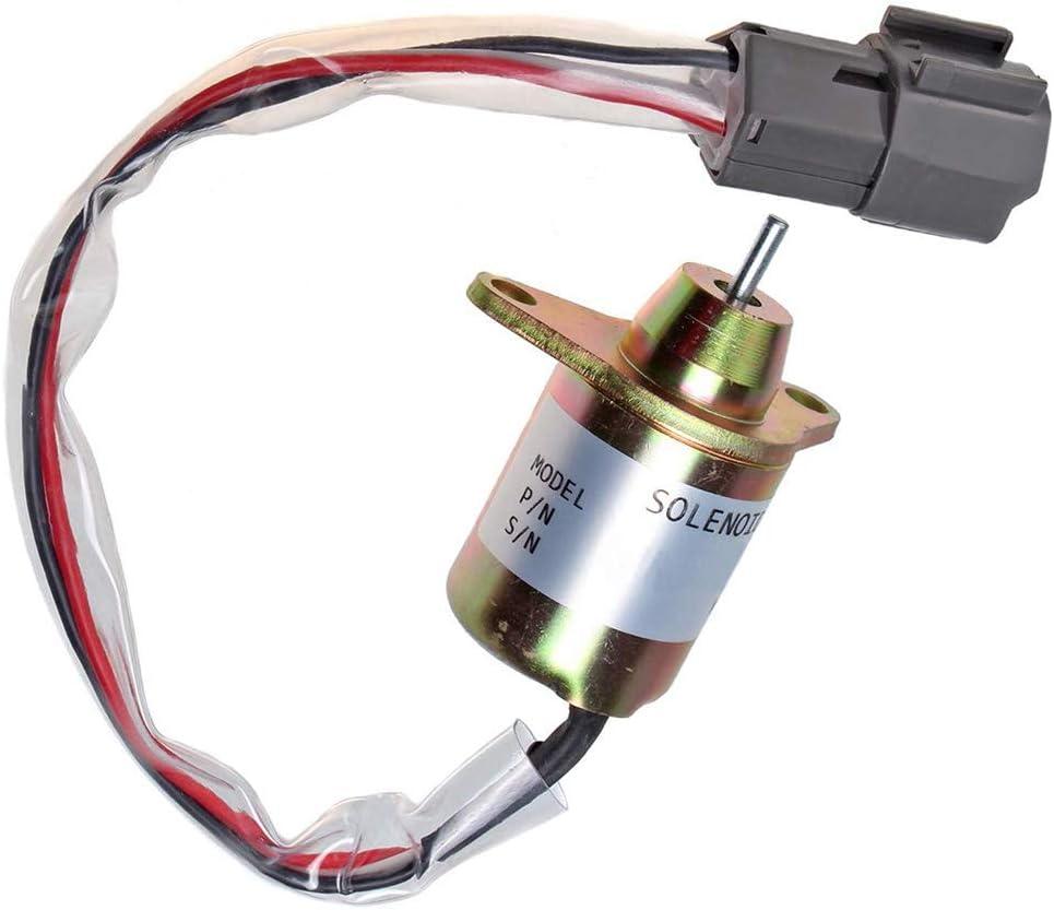 Sz Machparts Fuel Shut off Solenoid 119233-77932 Fits for Yanmar Synchro Woodward John Deere Tractor 4200 4300 4400 4500 4600 4700 3203 3032E 3036E 3038E 4105 12VDC