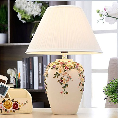 CLG-FLY European table lamp bedroom bedside lamp modern simple fashion wedding table lamp 11×46cm,18×46,Dimmer switch