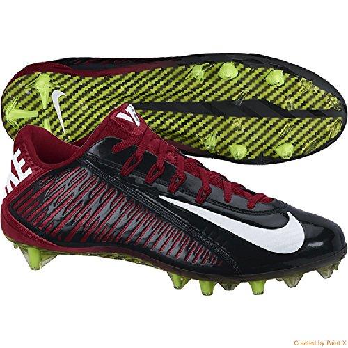 Nike Vapor Carbon Elite TD Mens Football Cleats Black/White/Tough Red 9Bkv1