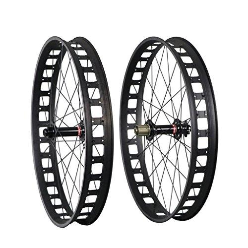 ICAN 26er Aluminum Fat Bike Wheels Clincher Shimano 10/11 Speeds Cassette Compatibility 32 Holes