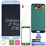 J7 PRO LCD Screen Replacement Touch Display Digitizer Assembly (Blue) for Samsung Galaxy J730 2017 J730G J730F SM-J730F/DSM J730FM/DSM J730G/DS J730GM/DS