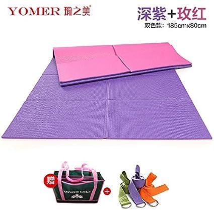 YOOMAT Profesional doblado Yoga Mat Arranque Antideslizante ...