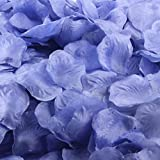 Oksale® 200pcs Colorful Silk Rose Petals Artificial Flower Wedding Favor Bridal Shower Aisle Vase Decor Scaters Confetti (Blue)