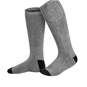 Yunhigh Batería calentada Calcetines para Hombres Mujer Calentador de pie con Aislamiento térmico eléctrico para Clima frío Esquí Caza Pesca Senderismo ...