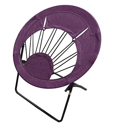Impact Canopy Bungee Chair, Round Portable Folding Chair, Purple