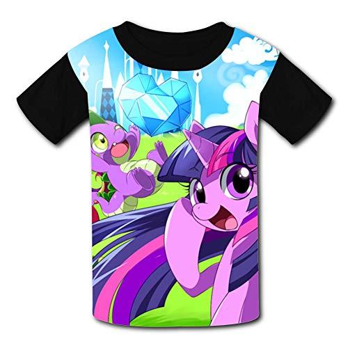 My Little Unicorn Pony Children T-Shirts Crew Neck Short Sleeve Raglan Costume Tee Shirt for Girls ()