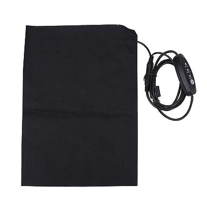calefacci/ón lumbar y calentador para mascotas Almohadilla t/érmica USB Calentador el/éctrico de calentador de tela el/éctrico DC 5V 3-Shift para cuello espalda abdomen hecho de fibra de carbono